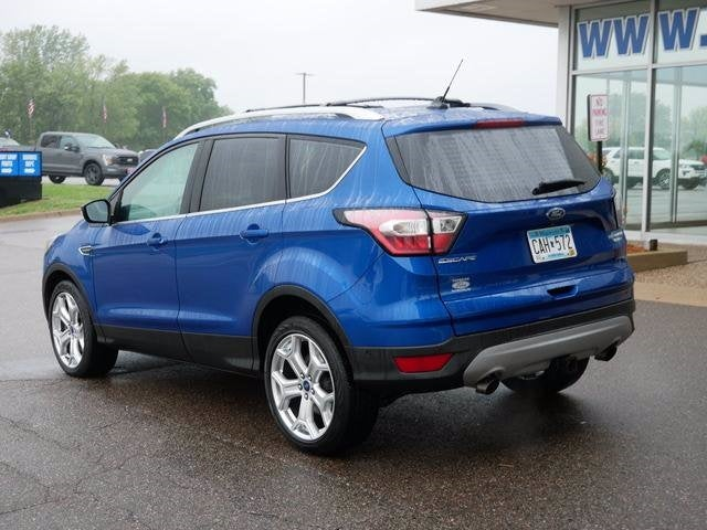 Certified 2018 Ford Escape Titanium with VIN 1FMCU9J95JUD21444 for sale in Plymouth, Minnesota